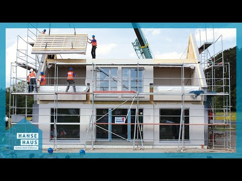 Erection of a Hanse Haus passive house in just eight hours