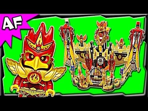 Flying PHOENIX FIRE TEMPLE 70146 Lego Legends of Chima Stop  Motion Set Review