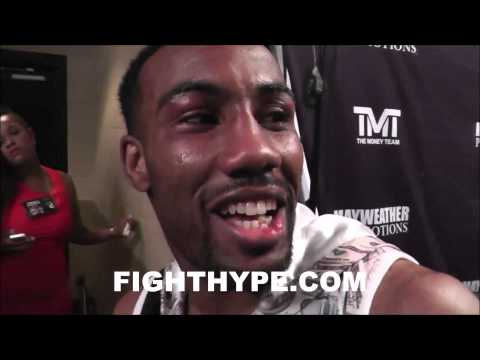 MICKEY BEY POSTFIGHT REACTION IN DRESSING ROOM AFTER TITLE WIN I JUST BEAT THE BOOGEYMAN