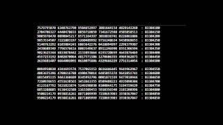 Pi - 100 Million Digits