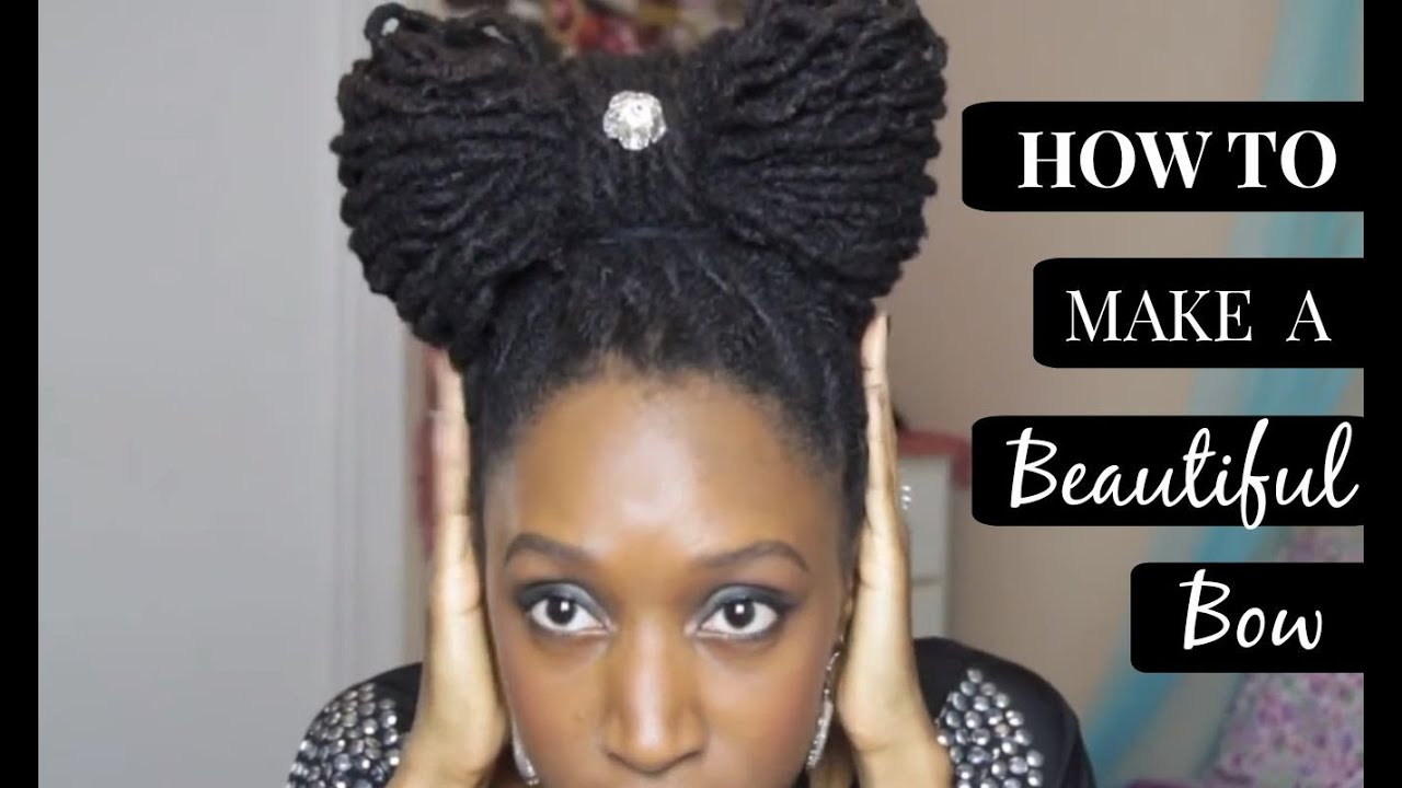 How To Make A Beautiful Bow Dreadlocks Tutorial YouTube