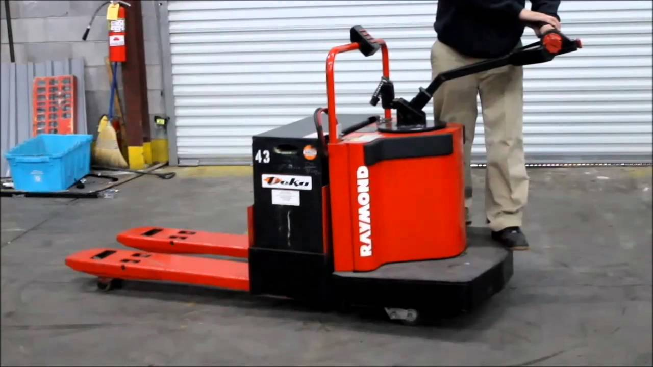 Raymond Ride On Electric Pallet Jack Youtube