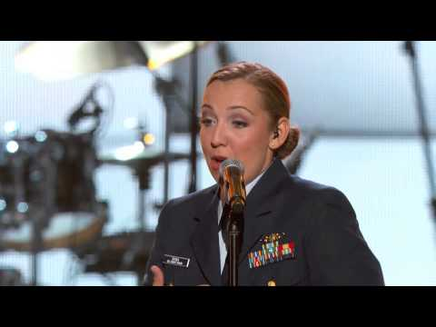 ACM Presents An AllStar Salute to the Troops Preview  Hunter Hayes  Lt jg Katie Spira