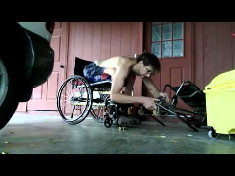 Wheelchair style - Getting Old Sports wheelchair out during summer monsoons - L1 injury 8-25-15