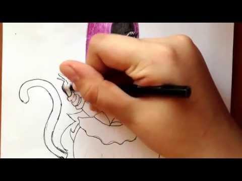Видео как нарисовать Кэтти Нуар