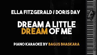 Dream A Little Dream Of Me Doris Day Ella Fitzgerald Piano Karaoke Backing Track