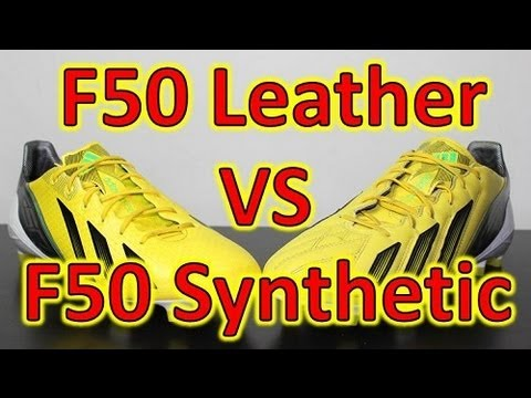Adidas F50 adizero miCoach 2 Leather VS Synthetic - Comparison + On Feet