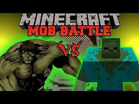 MUTANT ZOMBIE VS HULK - Minecraft Mod Battle - Mob Battles - Superheroes and Mutant Creatures Mods