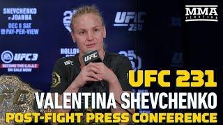 UFC 231: Valentina Shevchenko Post-Fight Press Conference - MMA Fighting