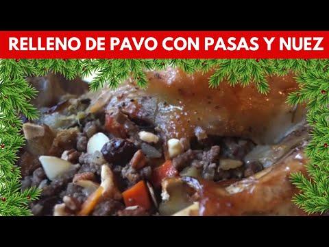 Relleno de Pavo con pasas y nuez♥Turkey stuffing Recipe♥Recetas para cena de Navidad