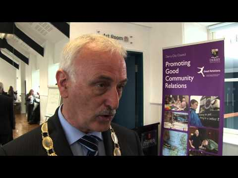 Gary Grattan reports from the Playhouse Theatre in Londonderry which hosted the North West launch of Community Relations Week 2011. Video produced for the Co...