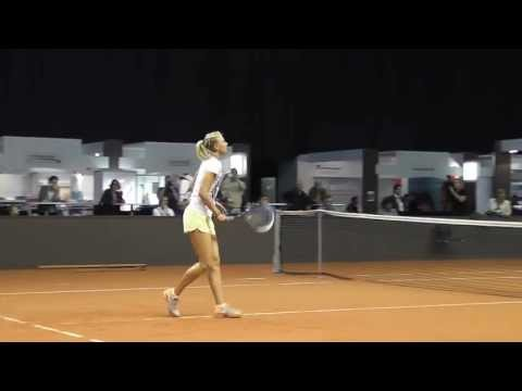 Maria Sharapova training session Part 1 @ Porsche Tennis Grand Prix 2013