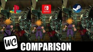 Final Fantasy VII - Comparison (PC/PS1/Switch)