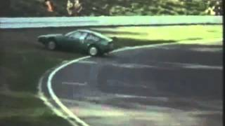 Alfa Junior Zagato spinning at Nurburgring 1970