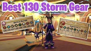 Wizard101: FINALLY! - Storm 130 BEST Gear Setup!