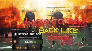 NBA 2K19 HOW TO STEEZO (DRIBBLE GOD) SPIN BACK OFF ANYTHING!! NBA 2K19 BECOMING A DRIBBLE GOD PART 5