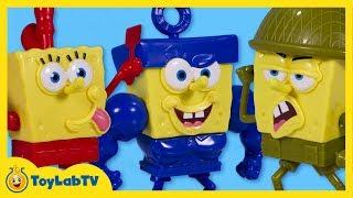 SpongeBob Sponge Out of Water Toys Pop A Part Spongebob Frypants Invincibubble Sgt Squarepants Movie