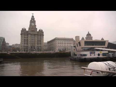 Ferry across the Mersey, Liverpool [HD]