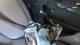 honda odyssey sliding door repair actuator assembly lubrication repair. Black Bedroom Furniture Sets. Home Design Ideas