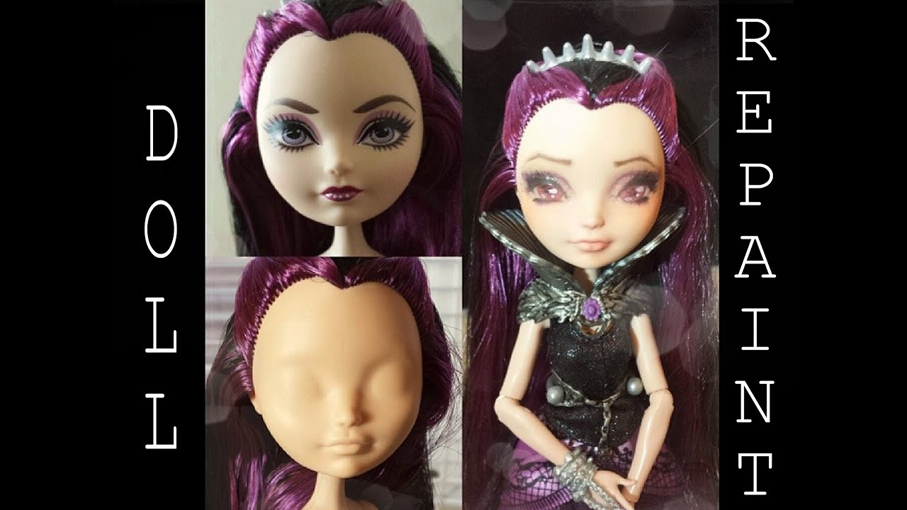 Ever After High Doll Raven Queen Repaint Youtube