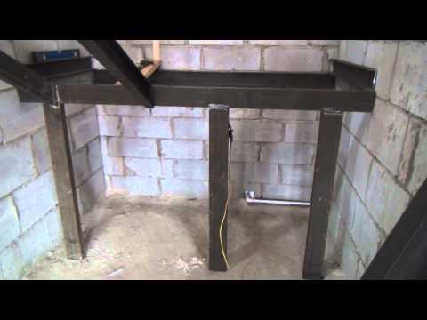 Начали делать металлический каркас лестницы