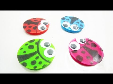 How to make a ladybug magnet