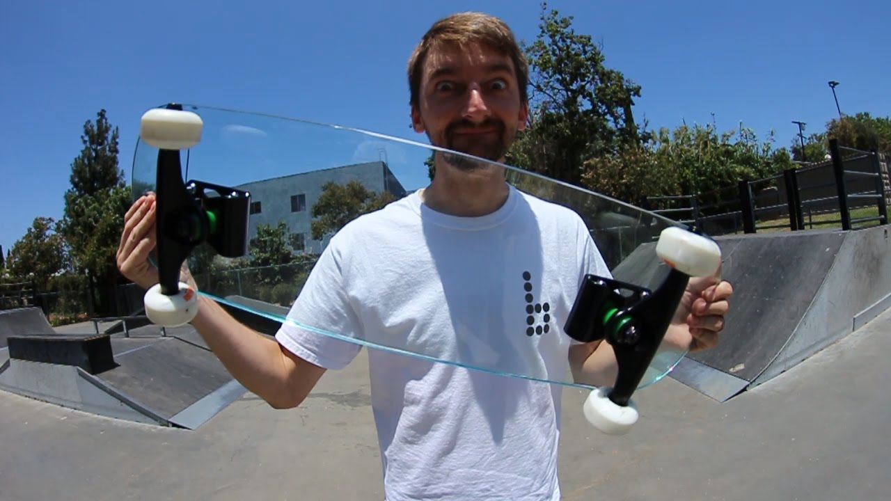 Dude Tries Out A Glass Skateboard And It Went About As Poorly As You'd Imagine