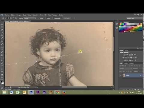 Como restaurar una foto antigua - photoshop CS6 - rápido y profesional