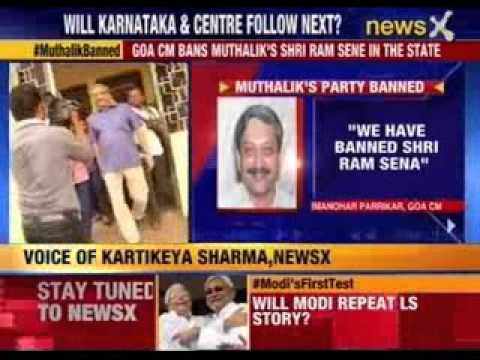 Goa CM bans Muthalik's Sri Ram Sena in the state