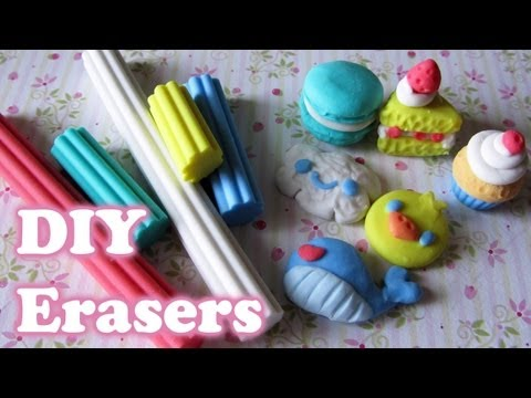 Make Your Own Erasers with Eraser Clay! (5+ different shapes)