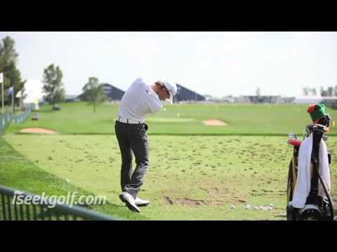Camilo Villegas at the 2009 US PGA Championship practice range at Hazeltine National Golf Club, Minneapolis, Minnesota - www.iseekgolf.com Download a HD vers...