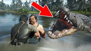 RDR2 Fight Fat Incest Brother with Giant Alligator