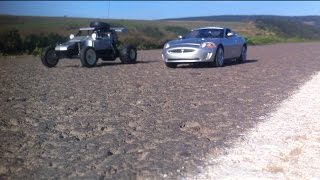 DRAG RACE : Jaguar XKR Rc Car VS Taiyo Jet Hopper Rc Car