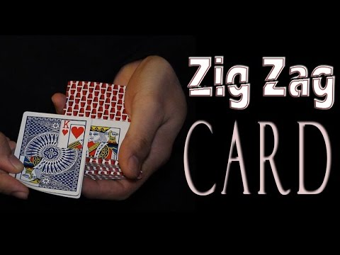 Free Card Magic - Zig Zag Card Trick Tutorial