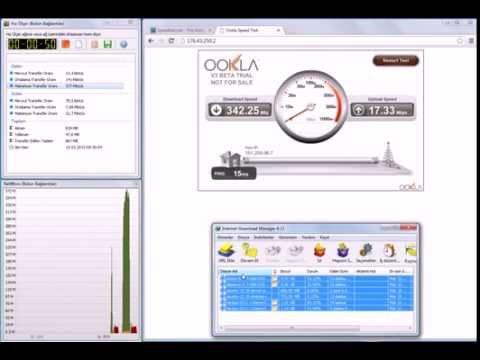 Turkcell Superonline Hız Testi 15 Mart 2013..Taahhüd Edilenin Üçte Birini Alıyoruz..