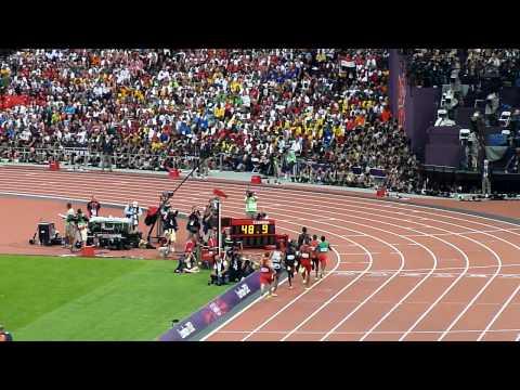 "London 2012 - 800 m : David Rudisha 1'40""91"