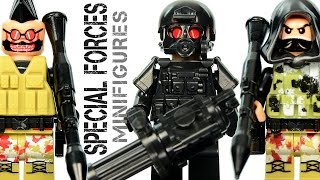 LEGO Brick Warfare: Special Forces Tactical Assault Team KnockOff Minifigures w/ Sniper & Gunner