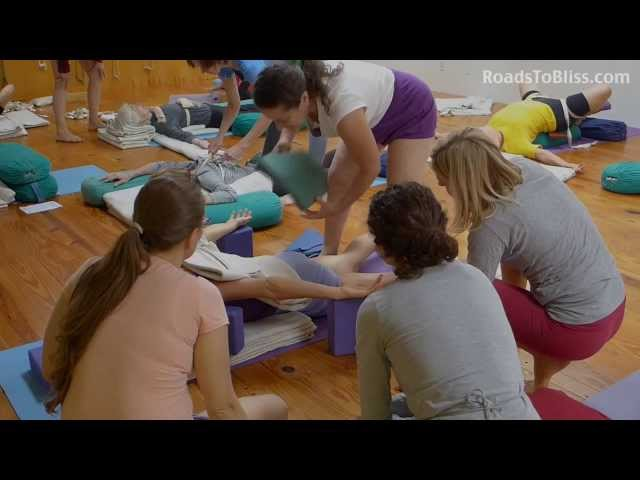 Iyengar Yoga therapy workshop with Lois Steinberg (36 minutes)