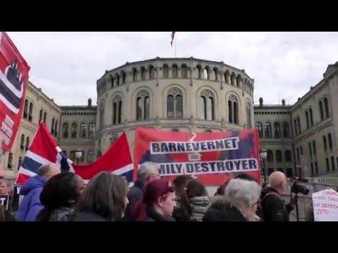 OSLO, NORVEGIA   PROTEST GLOBAL PENTRU SUSTINEREA FAMILIEI BODNARIU   16 APRILIE 2016