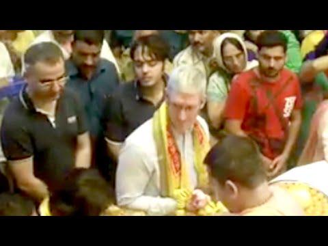 When Tim Cook ran into Mukesh Ambani's son at Siddhivinayak Temple