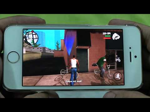 IPHONE 5S GRAND THEFT AUTO SAN ANDREAS GAMEPLAY