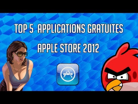 Top 5 Applications Gratuite App Store 2013 iPhone iPad & iPod