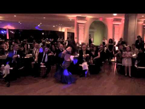 Belly Dancer At An Egyptian Wedding video