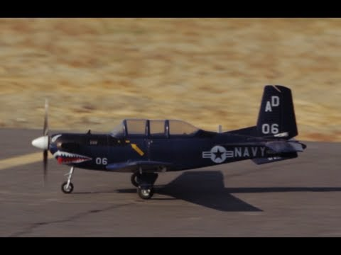 New Airfield 750MM T-34 Mentor RC Warbird Plane Review + Surprise Crash!