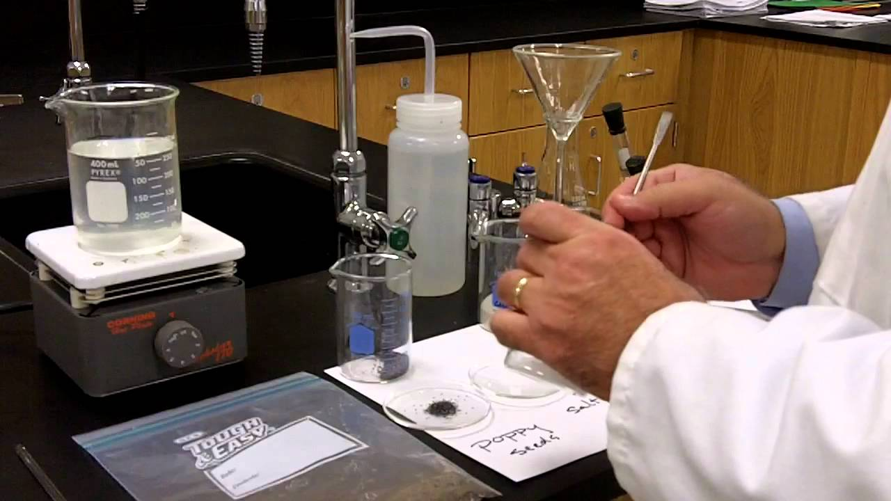 separation of a mixture lab report