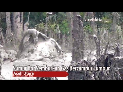 Sumur Bor Di Aceh Utara Semburkan Gas Bercampur Lumpur