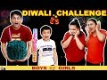 DIWALI CHALLENGE Girls vs Boys #Funny #Family Green Crackers ...