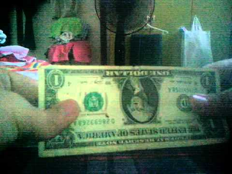 Upside down dollar bill illusion