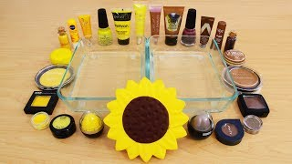 Sunflower - Mixing Makeup Eyeshadow Into Slime! Special Series 129 Satisfying Slime Video