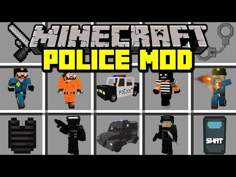Minecraft POLICE MOD! | BECOME A POLICE OFFICER TO FIGHT CRIME! | Modded Mini-Game